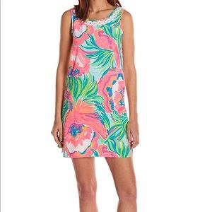 Lily Pulitzer shift dress - pink and green